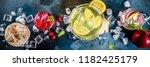 various autumn winter seasonal... | Shutterstock . vector #1182425179