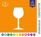 wineglass icon symbol | Shutterstock .eps vector #1182433753