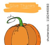 happy thanksgiving day.... | Shutterstock .eps vector #1182440083