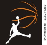 Basketball. The Player In A Jump