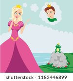prince enchanted with a frog | Shutterstock .eps vector #1182446899