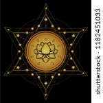 lotus and sacred geometry.... | Shutterstock .eps vector #1182451033