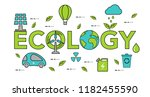 concept of ecology problem.... | Shutterstock .eps vector #1182455590