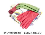 multi colored gloves and scarves | Shutterstock . vector #1182458110