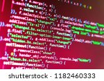 programming code typing. html... | Shutterstock . vector #1182460333