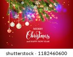 red christmas beautuful... | Shutterstock .eps vector #1182460600
