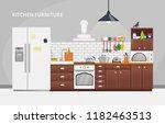 furniture design banner concept.... | Shutterstock .eps vector #1182463513