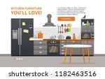 furniture design banner concept.... | Shutterstock .eps vector #1182463516