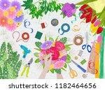 floristics vector florists... | Shutterstock .eps vector #1182464656