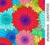 vector seamless pattern  bright ... | Shutterstock .eps vector #1182470533