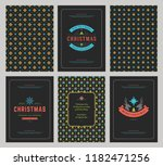 merry christmas greeting cards...   Shutterstock .eps vector #1182471256