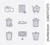 outline 9 waste icon set....   Shutterstock .eps vector #1182471373