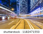 view of the evening city... | Shutterstock . vector #1182471553