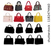 set of women's fashion bags | Shutterstock .eps vector #1182474460