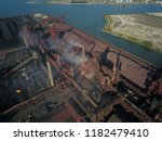 aerial drone flight over a...   Shutterstock . vector #1182479410