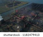 aerial drone flight over a...   Shutterstock . vector #1182479413