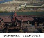 aerial drone flight over a...   Shutterstock . vector #1182479416