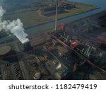 aerial drone flight over a...   Shutterstock . vector #1182479419