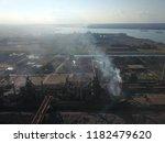 aerial drone flight over a...   Shutterstock . vector #1182479620