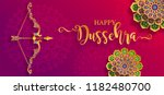 happy dussehra festival card... | Shutterstock .eps vector #1182480700