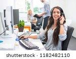 Attractive Telephone Worker...