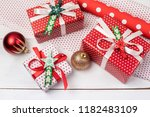 christmas background with... | Shutterstock . vector #1182483109