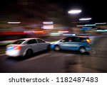 car accident. two cars crashed... | Shutterstock . vector #1182487483