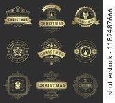 christmas labels and badges... | Shutterstock .eps vector #1182487666