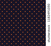 seamless orange polka dot on... | Shutterstock .eps vector #1182491050