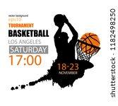 square design for basketball ...   Shutterstock .eps vector #1182498250