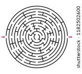 abstract circle maze  ... | Shutterstock .eps vector #1182502600