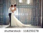 wedding pair hugging and... | Shutterstock . vector #118250278