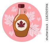 vector illustration of a maple... | Shutterstock .eps vector #1182505546