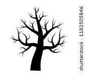 naked tree vector illustration  ... | Shutterstock .eps vector #1182505846
