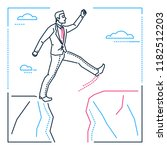 determined businessman   line... | Shutterstock .eps vector #1182512203