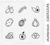 set of berry icons line style... | Shutterstock .eps vector #1182513196