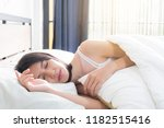 sleep teenage woman girl rest... | Shutterstock . vector #1182515416