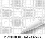 bending paper vector mockup.... | Shutterstock .eps vector #1182517273