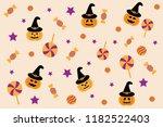 halloween pattern decoration... | Shutterstock .eps vector #1182522403
