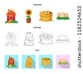 vector design of farm and... | Shutterstock .eps vector #1182524653