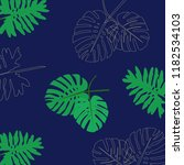 Tropical Leaves Background...