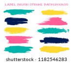 trendy label brush stroke... | Shutterstock .eps vector #1182546283