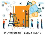 business people working with a... | Shutterstock .eps vector #1182546649