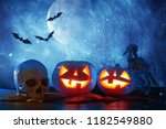 halloween holiday concept.... | Shutterstock . vector #1182549880