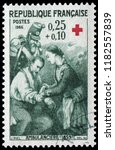 paris  france   dec. 10  1966 ... | Shutterstock . vector #1182557839