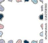 hand drawn border frame doodles.... | Shutterstock . vector #1182558583