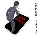 hacker cyberattack malicious... | Shutterstock . vector #1182568300