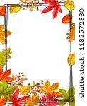 seasonal fall frame with autumn ... | Shutterstock .eps vector #1182572830