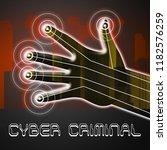 cybercriminal internet hack or... | Shutterstock . vector #1182576259