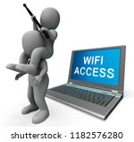 wifi access point remote... | Shutterstock . vector #1182576280